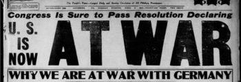 2 Aprile 1917 – Ingresso degli Stati Uniti in guerra