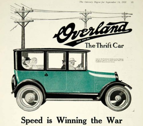 Willys-Overland Incorporated Toledo Advertisement 1918